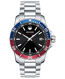 Men's Swiss Series 800 Stainless Steel Bracelet Watch, 40mm