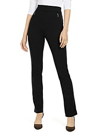 INC Petite High-Rise Zip-Pocket Pants, Created for Macy's