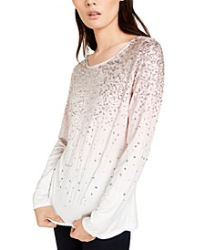 INC Sequin-Trim Top, Created for Macy's