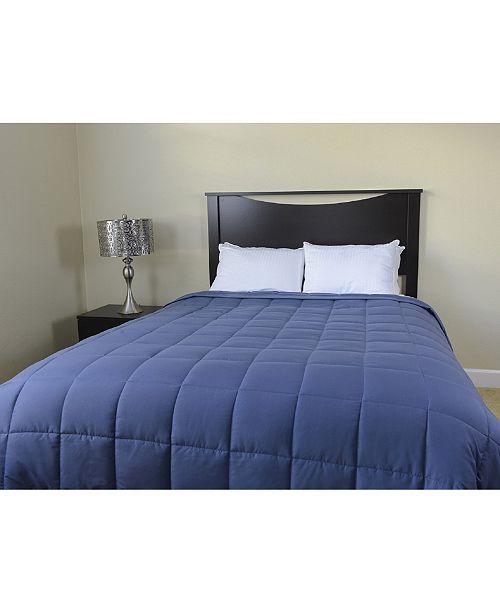 Luxlen Microfiber Reversible Blanket Soft Plush to Satin Cool, King