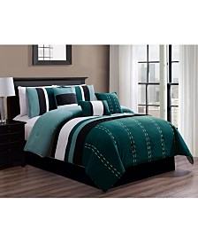 Luxlen Kastner 7 Piece Comforter Set, Queen