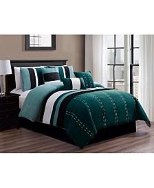 Luxlen Kastner 7 Piece Comforter Set, Cal King