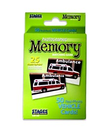 Stages Learning Materials - Picture Memory Card Game - Vehicles