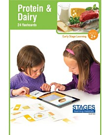 Stages Learning Materials Link4fun Protein Dairy Interactive Flashcard Set With Free iPad App