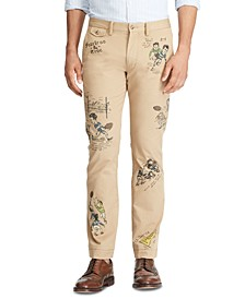 Men's Stretch Straight Graphic Chino