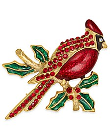 Gold-Tone Pavé Cardinal Pin, Created For Macy's