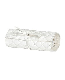Mele Co. Whitley Travel Jewelry Roll in Quilted Faux Leather