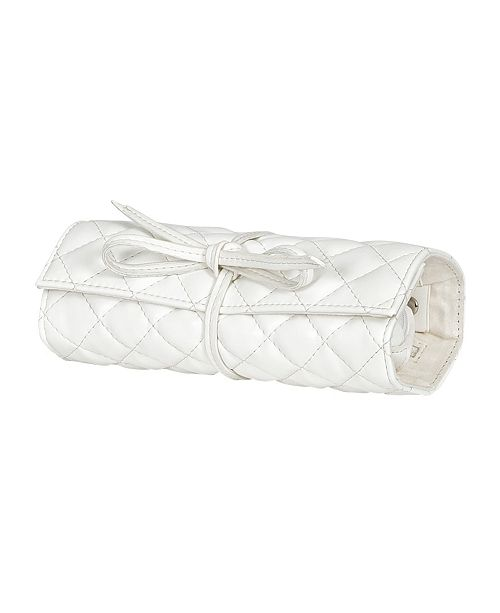 Mele & Co Mele Co. Whitley Travel Jewelry Roll in Quilted Faux Leather