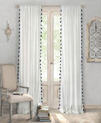 Elrene Bianca Semi-Sheer Window Curtain with Tassels