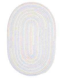Colonial Mills Ticking Stripe Oval Starlight 2' x 3' Accent Rug