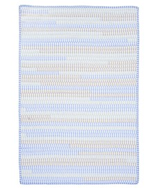 Ticking Stripe Rect Starlight 2' x 4' Accent Rug