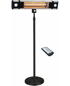 Infrared Electric Outdoor Heater - Freestanding with LED and Remote