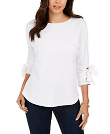 Textured Tie-Cuff Top, Created for Macy's
