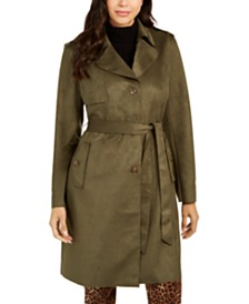 Charter Faux-Suede Trench Coat, Created for Macy's