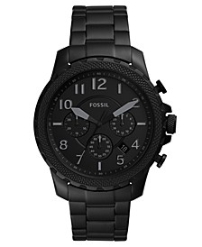 Men's Chronograph Bowman Black Stainless Steel Bracelet Watch 46mm