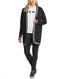 Graphic Open-Front Cardigan