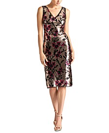 Karine Sequined Sheath Dress