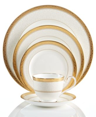 Dinnerware, Odessa Gold  5 Piece Place Setting