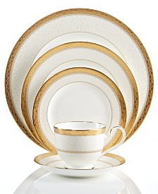 Noritake Dinnerware, Odessa Gold  5 Piece Place Setting