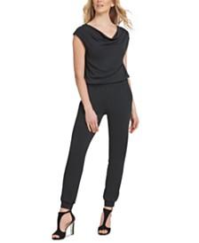 DKNY Cowlneck Skinny Jumpsuit
