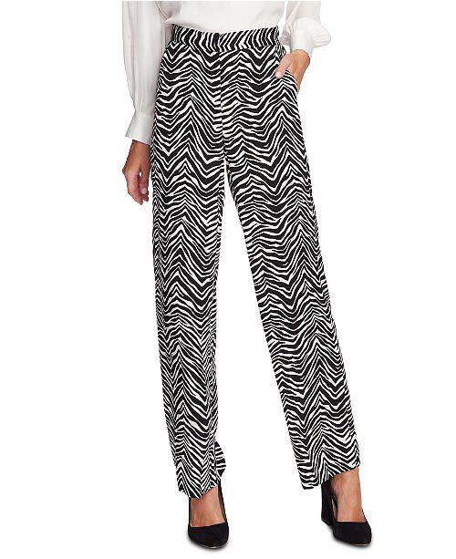 Vince Camuto Zebra Peaks Printed Wide-Leg Pants