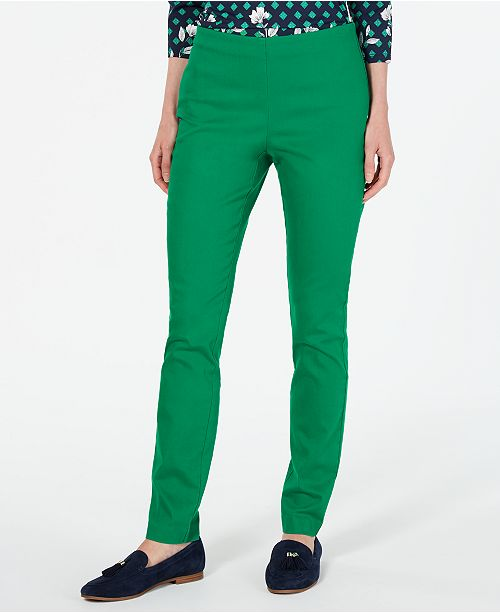 Charter Club Petite Chelsea Stretch-Twill Skinny Pants, Created for Macy's
