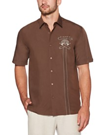 Cubavera Men's Cigar Graphic Shirt