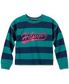 Tommy Hilfiger Big Girls Striped Sweatshirt
