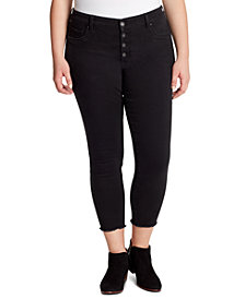 Jessica Simpson Trendy Plus Size Kiss Me Skinny Ankle Jeans