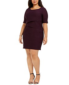 Plus Size Zigzag Sheath Dress