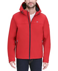 Tommy Hilfiger Men's Logo Graphic Hooded Soft-Shell Jacket, Created for Macy's