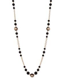 """Lauren Ralph Lauren Gold-Tone Crest Beaded 42"""" Strand Necklace"""