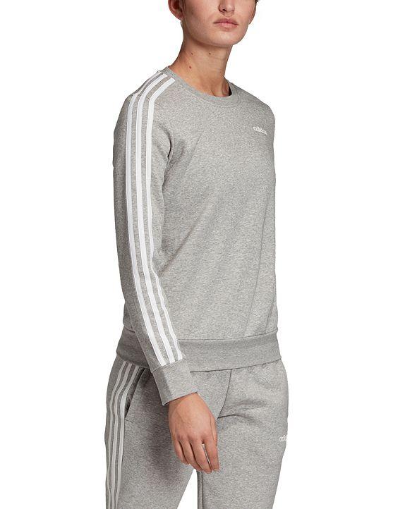 adidas Women's Essentials 3-Stripe Fleece Sweatshirt