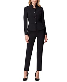 Star-Neck Pants Suit