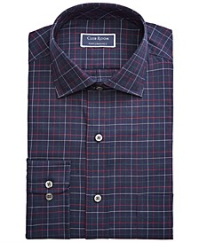 Men's Classic/Regular Fit Stretch Twill Multi Tattersall Dress Shirt, Created for Macy's