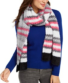 Brushed Knit Chevron Scarf