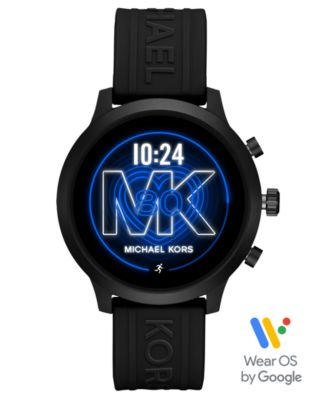 Michael Kors Access Gen 4 MKGO Black Silicone Strap Touchscreen Smart Watch 43mm, Powered by Wear OS by Google™