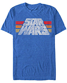 Star Wars Men's Classic Retro Distressed Logo Short Sleeve T-Shirt