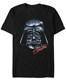 Men's Classic Darth Vader Shiny Helmet Short Sleeve T-Shirt