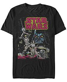 Men's Classic Comic Luke Leia And Darth Vader Short Sleeve T-Shirt