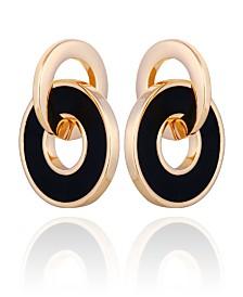 T Tahari Interlocking Circle Earring