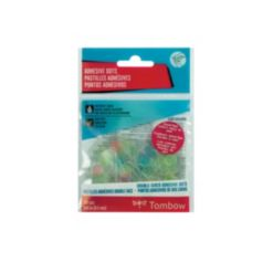 Tombow Adhesive Dots, Assorted Colors, 100-Pieces