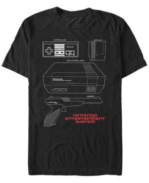 Nintendo Men's Nes Console Accessories Short Sleeve T-Shirt