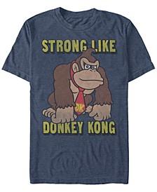 Men's Donkey Kong Strong Like Donkey Kong Short Sleeve T-Shirt