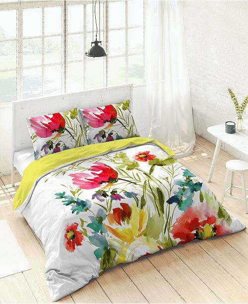 Kaleido Kaliedo Tulips Duvet Set, King