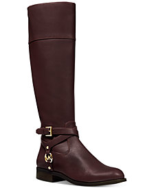 Michael Michael Kors Preston Leather Tall Riding Boots