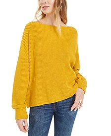 Millie Mozart Cotton Boat-Neck Sweater