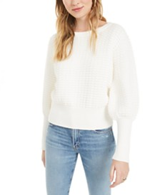 French Connection Mozart Cotton Popcorn-Knit Sweater