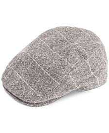 Men's Heathered Plaid Flat-Top Ivy Cap