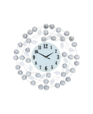 Three Star Flowers and Leaves Wall Clock